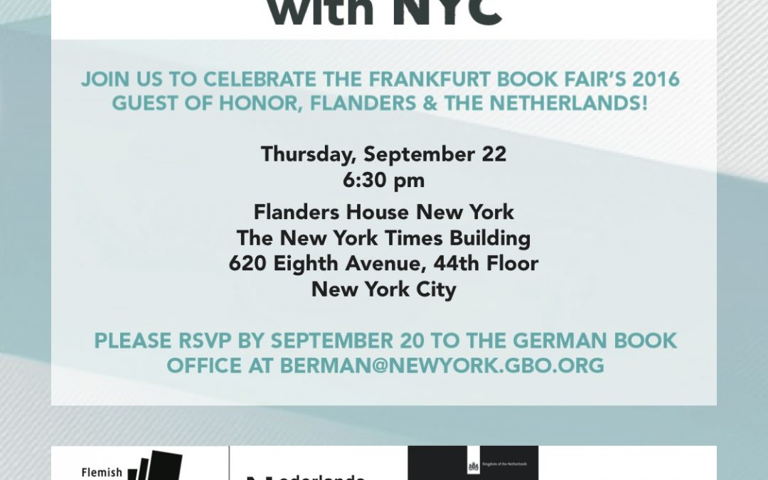 Flanders & The Netherlands Guest of Honor Literary Event – New York